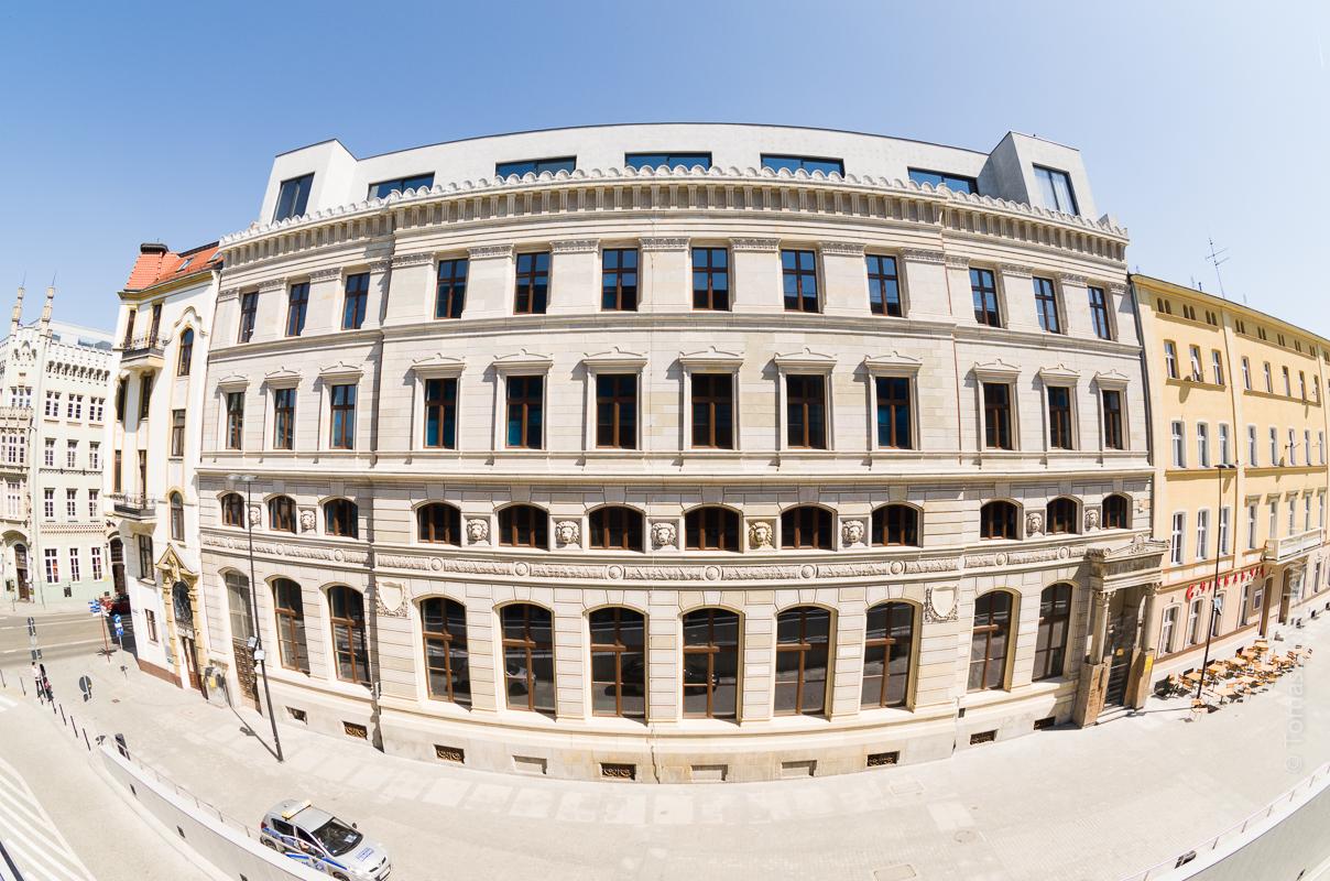 Zdjęcia inwestycji hotelowej AC by Marriott we Wrocławiu.