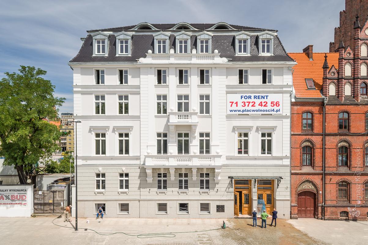 Max Born Forum- zdjęcia inwestycji przy Placu Wolności 4 we Wrocławiu.